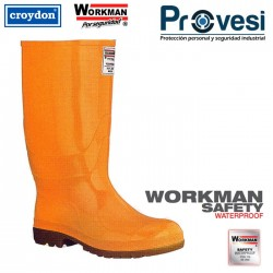Bota Workman Safery Waterproof Amarilla C/P Tallas 35-46 Ref 2440026
