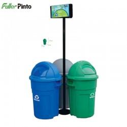Punto Ecológico 55 Lts Verde-Gris-Azul