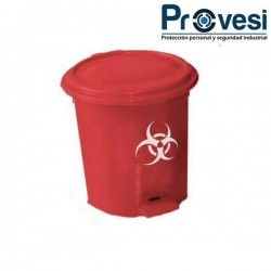 Papelera Pedal 25 Lts Clp Rojo Descripción