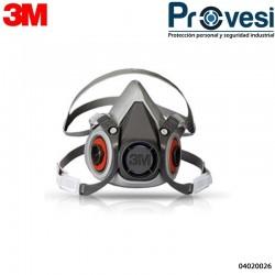 Respirador En Elástomero Media Cara 3M 6200 04020026 - Respirador 3M 6200 Media Cara Elastomerico T-M