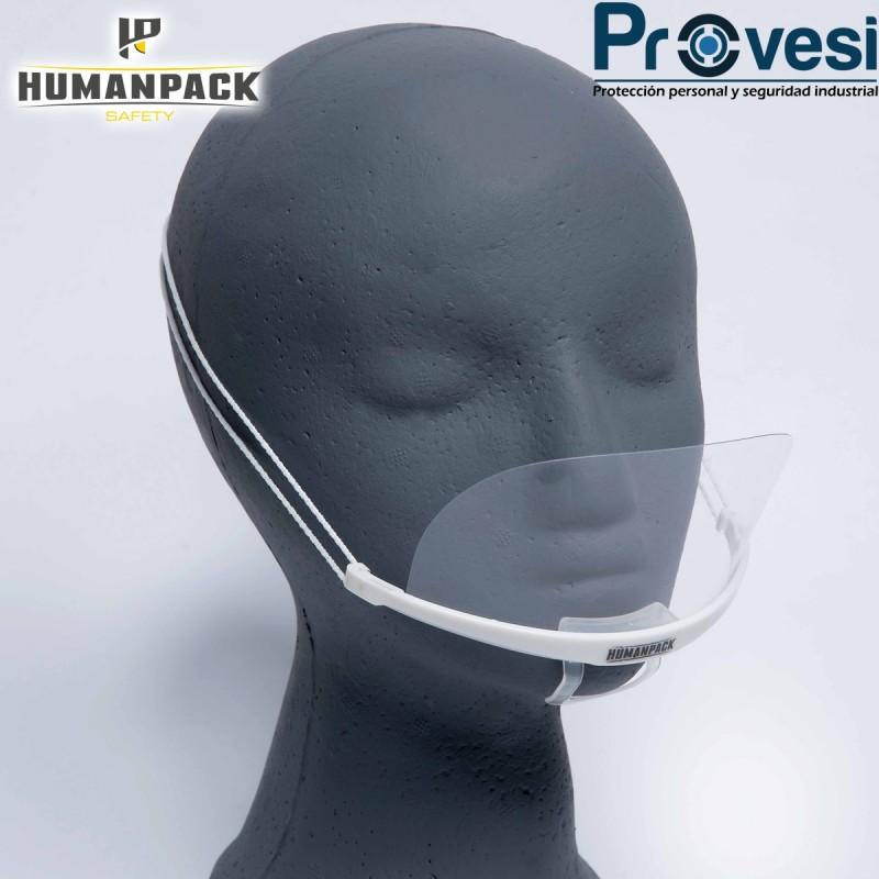 04010171 - Tapabocas Acrilico Antiempañante Hermes Humanpack Caja X 10 Humanpack