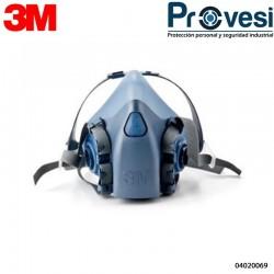 Safe 7502 Respirador Silicona Media Cara T-M 04020069 - Respirador 3M 7502 Silicona Media Cara T-M