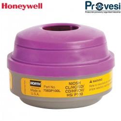 04030101 - Cartucho Nort V/Organicos G/Acidos Pqte X2Und Honeywell 7583P101L