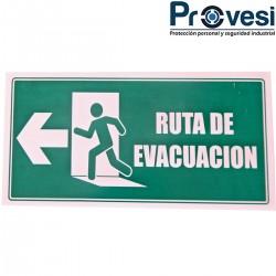 Señal Ruta De Evacuacion...