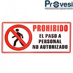 Señal Prohibido El Paso De...