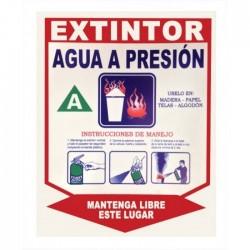 Señal Extintor Agua A Presion