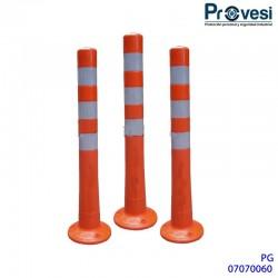 07070060 - Hito Delineador Vial Flexible Naranja (Tubo Señalizacion)