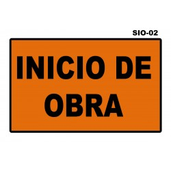 07070200 - Senal Inicio De Obra Sio-02 (Señal Metalica Movil Temporal)