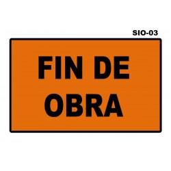 07070201 - Senal Fin De Obra Sio-03 (Señal Metalica Movil Temporal)