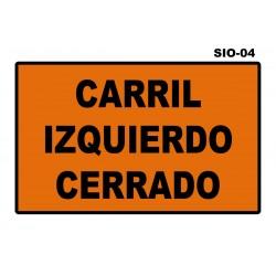 07070203 - Senal Carril Cerrado Sio-04 (Señal Metalica Movil Temporal) Sio-04. Carril Cerrado (Derecho-Centro-Izquierdo)