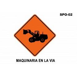 07070276 - Señal Maquinaria En La Via Spo-02 (Señal Metalica Movil Temporal)